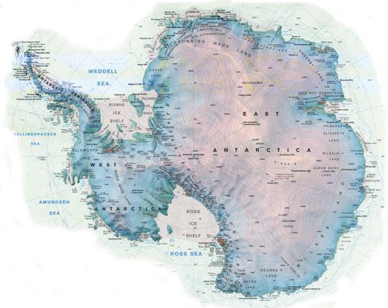 Kart over sydpolen